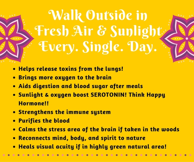 Walk Outside in Fresh Air & Sunlight Every Day.