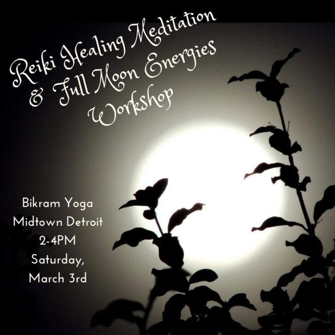 Reiki Healing Meditation & Full Moon Energies Workshop